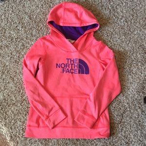 North Face pink and purple hoodie